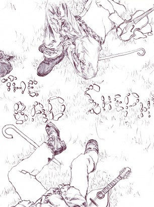 The Bad Shepherds (For Amelia's Magazine) /// Ballpoint Pen 2013
