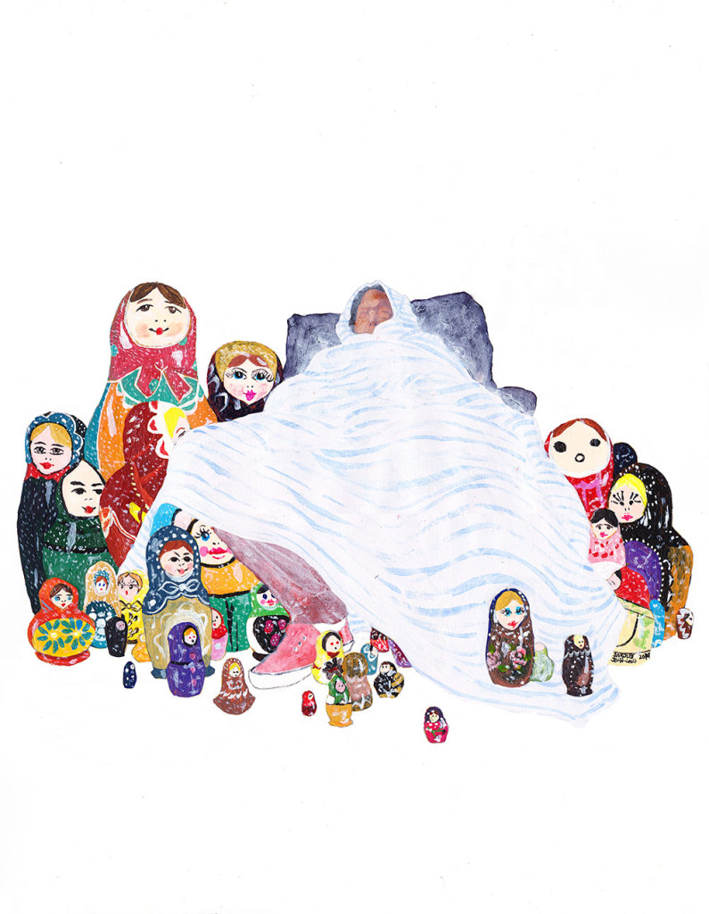 Matryoshka Russian Dolls Illustration