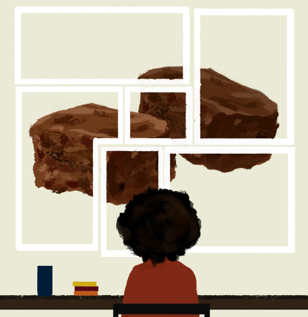 Digital Art Food Illustration of Brownies
